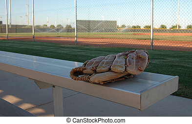 Before The Game - Image of a baseball glove on a fan...