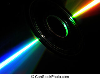 CD Rom with black background