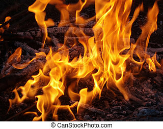 Fire and flames as a heated background