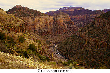 Desert Twilight - Twilight over Snake River Canyon in the...