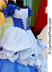 Blue children girls dress - Beautiful light blue fancy girl...