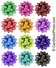 Gift Bows - 12 colours - 12 different colour gift bows
