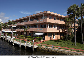 condominium living - This building on the water front of the...