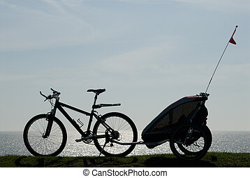 Mountainbike - Bike with trailer.