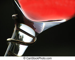 red wine - Glass with red wine against the blue sky