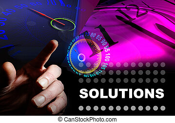 solutions - Hand and graphics