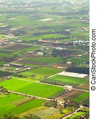 Aerial View - -- of Chinese farmland