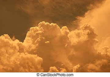 Golden Clouds II - Storm clouds approaching in Ingersoll...