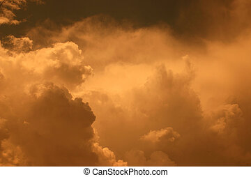 Golden Clouds - Storm clouds approaching in Ingersoll...