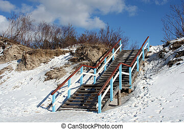 Winter Scene - Winter scene - stairs into the heaven