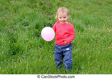 Baby and balloon