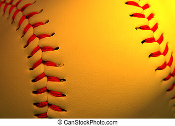Abstract baseball background - Extreme close up of a...