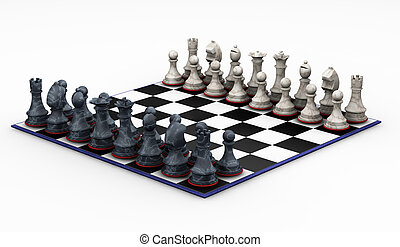 Chess set - 3D render of chess set
