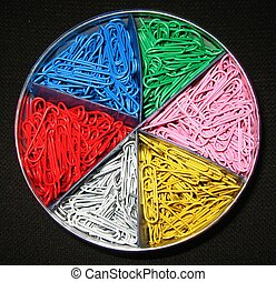 paper clips - multi-colored paper clips