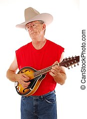Old Time Country - Senior rockin on an acoustic mandolin