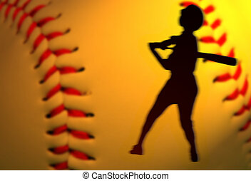 Baseball add - Abstract baseball competition add with left...