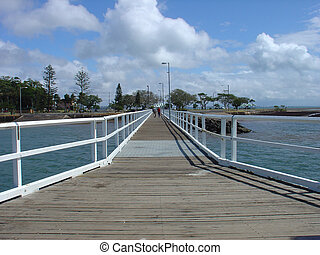 Wellington Pt Jetty - The jetty at Wellington Point,...
