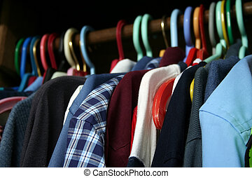 A Guy\\\'s Wardrobe - A selection of menswear.
