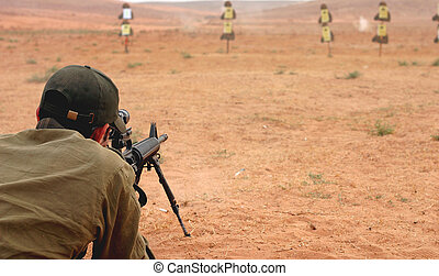 Sniper at militery training