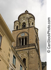 old church tower of Amalfi cathedral - church tower(XII...