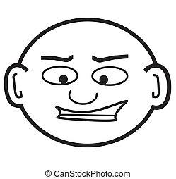 bald punky dude - a punk-ish looking cartoon head