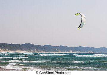 Sudwana #17 - A person kite surfing in Sudwana