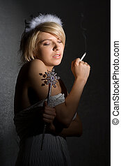 smoking princess - smoking girl in princess outfit