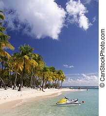 Caribbean Watersport - Beautiful caribbean lagoon with...