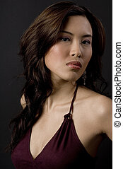 Asian Model - A pretty young asian model in an evening dress...