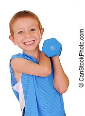 Pocket Hercules 302 - Young boy working out with weights