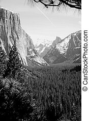 El Capitan Monochrom - Black and white of El Capitan