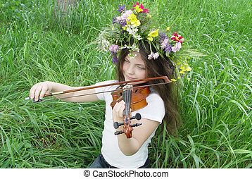 summer viola - At the girl good mood, also the fine melody...