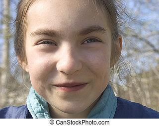 Smiling girl III