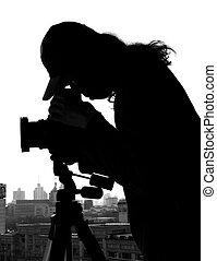 "photographer\""s Silhouettephotographer - Chinese..."