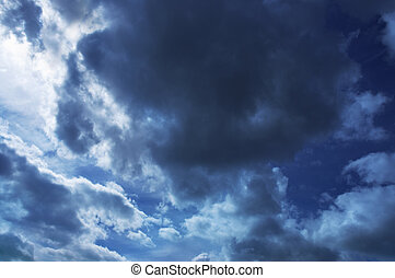 gloomy weather background - sky storms