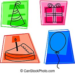 birthday icons - icons for birthday party