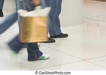 people shopping in mall
