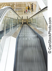 escalator in mall