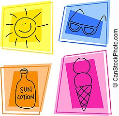summer icons - artistic summer icon designs