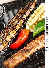 cibo, griglia,  -,  BBQ
