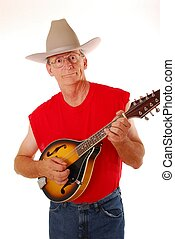Old Time Country 1 - Senior rocking on an acoustic mandolin