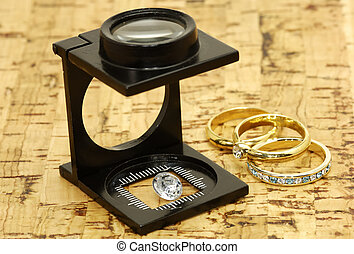 Jeweller - Loupe and a Diamond