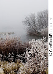 Winter dream - Rural Idaho river landscape