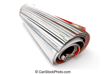Roll of Magazine - Closeup of magazine roll together Shallow...