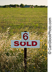 Lot Number 6 Sold - Field marked as number 6 has been sold