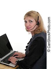 Attractive Customer Service Operator 3