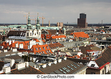Vienna #59 - The Vienna Skyline, Austria, from the st...