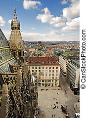 Vienna #62 - The Vienna Skyline and St Stephens DOM Tower