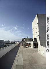 corbusier roof - the roof of the la corbusier appartment...