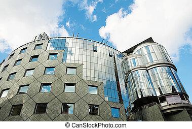 Vienna #67 - Steel and Glass building in Vienna, Austria -...